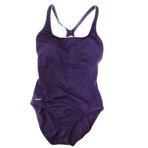 Speedo purple cross back one piece swimsuit sz 16